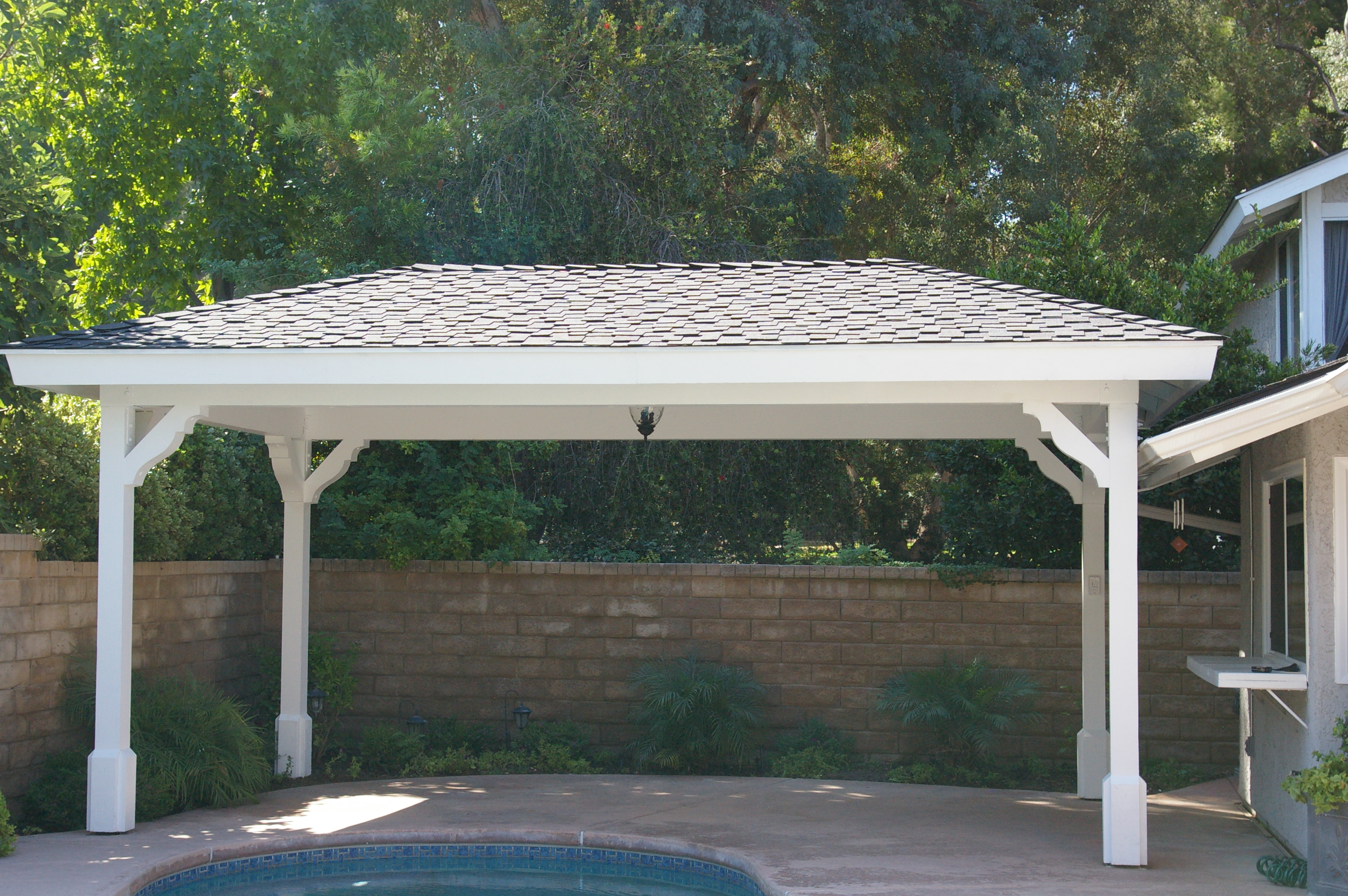Free Standing Covered Patio Cover